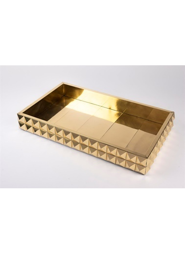 Mikasa Moor Gold Dikdörtgen Kabartma Tepsi 24X39Cm Altın